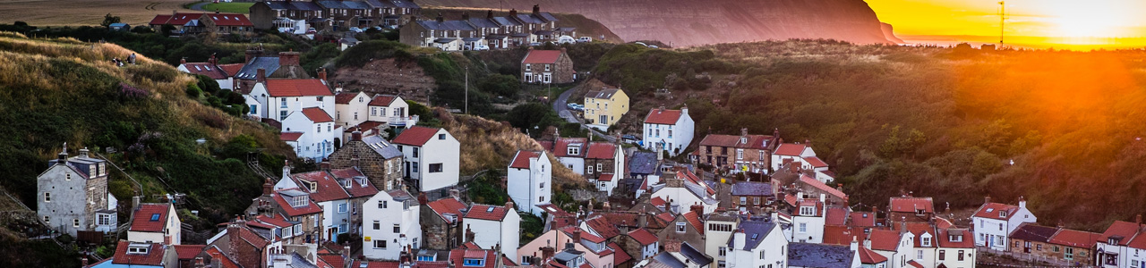 Staithes Village Sunset